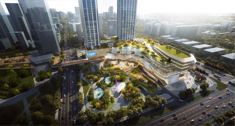 龙湖地产---武昌滨江天街项目